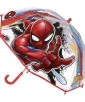 Vergelijk doorzichtige spiderman paraplu voor jongens 71 cm prijs