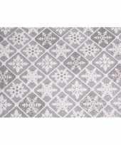 Vergelijk doorzichtige stof met glitters ruit patroon 30 x 270 cm prijs