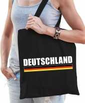 Vergelijk duitsland supporter schoudertas deutschland zwart katoen prijs