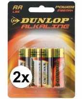 Vergelijk dunlop batterijen alkaline lr6 aa 8 stuks prijs