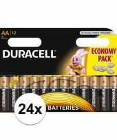 Vergelijk duracell aa batterijen 24 stuks prijs