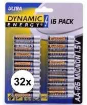 Vergelijk dynamic energy aa batterijen 32 stuks prijs