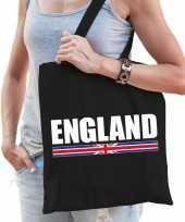 Vergelijk engeland supporter schoudertas england zwart katoen prijs