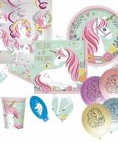 Vergelijk feest eenhoorn decoratie versiering pakket voor kinderfeestje met 8 kinderen prijs 1013435
