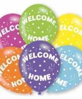 Vergelijk feestballonnen kleuren welkom thuis 6 stuks prijs