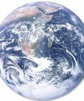 Vergelijk feestdecoratie bord ronde aardbol wereldbol 66 cm van karton prijs