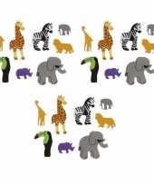 Vergelijk foam safari diertjes knutsel materiaal 96 stuks prijs