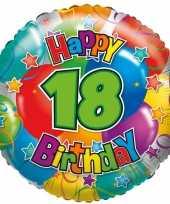 Vergelijk folie ballon 18 happy birthday 35 cm prijs