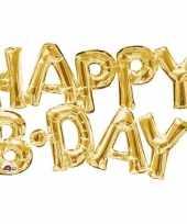 Vergelijk folie ballon happy b day goud 55 cm prijs