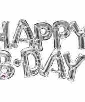 Vergelijk folie ballon happy b day zilver 76 cm prijs