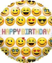 Vergelijk folie ballon smiley happy birthday 35 cm prijs 10105594