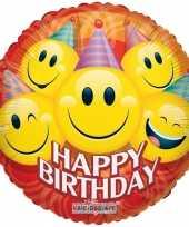 Vergelijk folie ballon smiley happy birthday 35 cm prijs