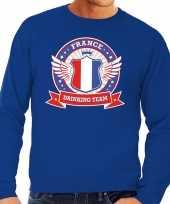 Vergelijk france drinking team sweater blauw heren prijs