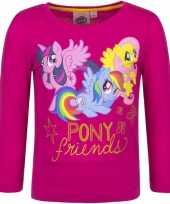Vergelijk fuchsia roze my little pony shirt voor kinderen prijs