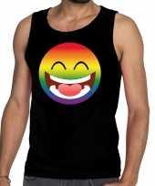 Vergelijk gay pride emoji tanktop zwart heren prijs