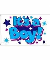 Vergelijk geboorte vlag jongen 90 x 150 cm prijs