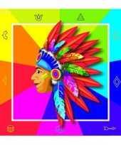Vergelijk gekleurde indianen servetten prijs