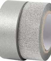 Vergelijk glitter tape zilver 2 rollen prijs