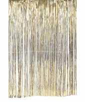 Vergelijk gouden deurgordijn slierten feest versiering 100 x 200 cm prijs