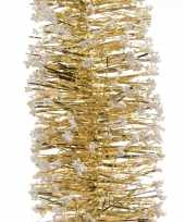 Vergelijk gouden feestversiering folie slinger met sneeuw 200 cm prijs