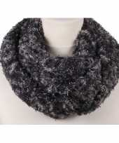 Vergelijk grijs melee fleece ronde col sjaal voor volwassenen prijs