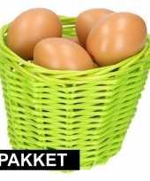 Vergelijk groen paaseieren mandje met bruine eieren prijs