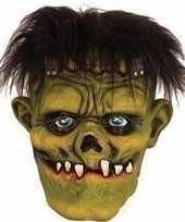 Vergelijk groene frankenstein horror halloween masker van latex prijs