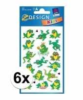 Vergelijk groene kikker stickertjes 6 vellen prijs