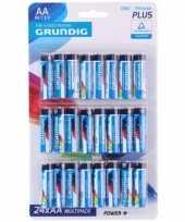 Vergelijk grundig aa batterijen 24 stuks prijs