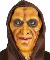 Vergelijk hagedis horror halloween masker van latex met capuchon prijs