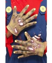 Vergelijk halloween handschoenen zombie prijs