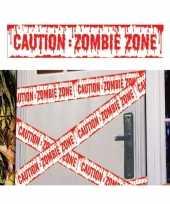 Vergelijk halloween thema plastic afzetlint caution zombie zone 600 cm prijs