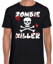 Vergelijk halloween zombie killer shirt zwart heren met zombie killer bedrukking prijs