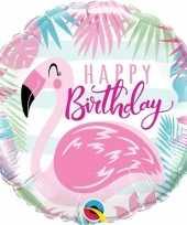 Vergelijk happy birthday flaingo folieballon 45 cm met helium prijs