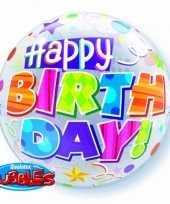 Vergelijk helium ballon rond happy birthday prijs
