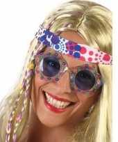 Vergelijk hippie feestbril met blauwe glazen voor volwassenen prijs