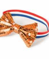 Vergelijk holland dames armbandje met oranje strik prijs