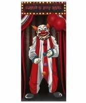 Vergelijk horror clown deurposter 75 x 150 cm halloween decoratie prijs