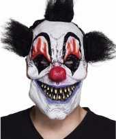 Vergelijk horrorclown masker met zwart haar prijs