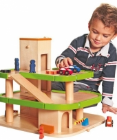 Vergelijk houten speelgoed garages met lift prijs