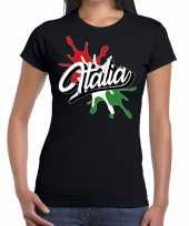 Vergelijk italia italie supporter kleding zwart voor dames prijs
