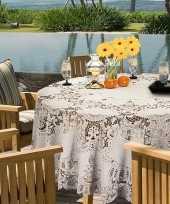 Vergelijk ivoor witte tafelkleden tafellakens 180 cm rond prijs