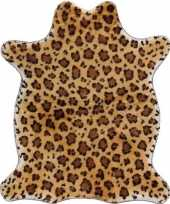 Vergelijk jachtluipaard pluche namaak dierenvel kleed 90 cm prijs