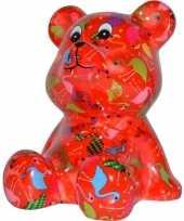 Vergelijk kado spaarpot beer rood met flamingo print16 cm prijs