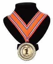 Vergelijk kampioensmedaille nr 1 oranje rood wit blauw prijs