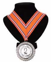 Vergelijk kampioensmedaille nr 2 oranje rood wit blauw prijs