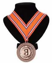 Vergelijk kampioensmedaille nr 3 oranje rood wit blauw prijs