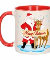 Vergelijk kerst beker rudolph en santa 300 ml prijs