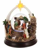 Vergelijk kerst decoratie glitterbol sneeuwbol 23 cm type 1 met verlichting prijs