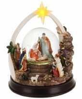 Vergelijk kerst decoratie glitterbol sneeuwbol 23 cm type 2 met verlichting prijs